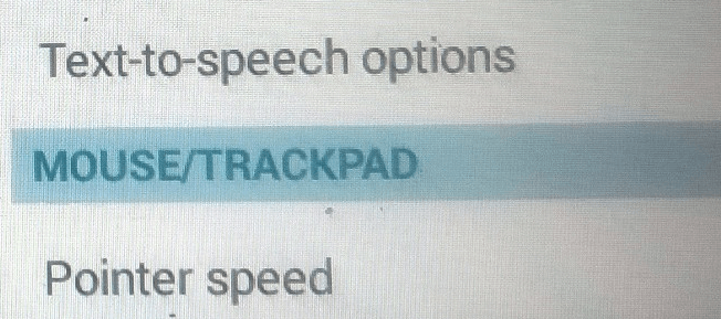 Android Pointer Speed Option