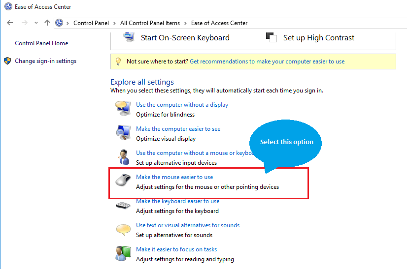 Mouse Easy To Use Option