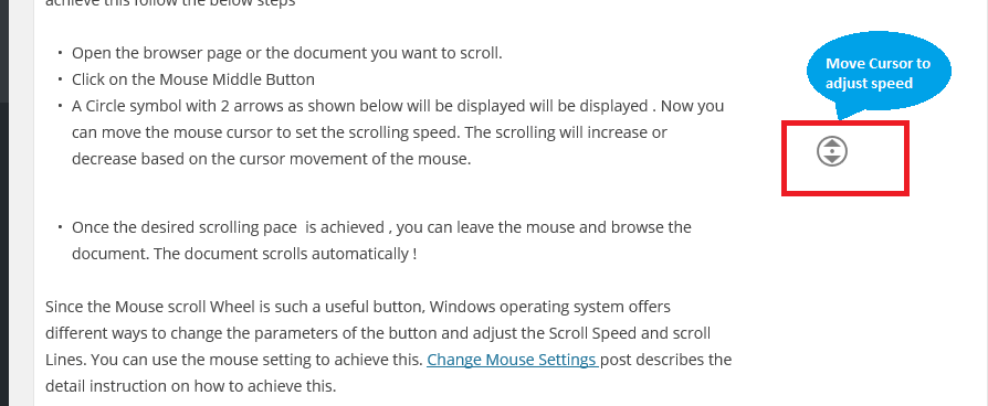 Mouse Scroll Speed Option